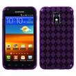 Insten® Argyle Candy Skin Case For Samsung Epic 4G Touch/Galaxy S II, Purple