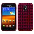 Insten® Argyle Candy Skin Case For Samsung Epic 4G Touch/Galaxy S II, Red