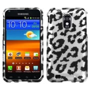 Insten® Skin Phone Protector Case For Samsung Epic 4G Touch/Galaxy S II, Black/2D Silver Leopard
