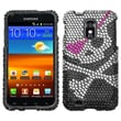 Insten® Diamante Protector Case For Samsung Epic 4G Touch/Galaxy S II, Skull