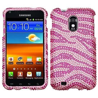Insten® Diamante Protector Case For Samsung Epic 4G Touch/Galaxy S II, Zebra Pink