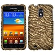 Insten® Diamante Phone Protector Case For Samsung Epic 4G Touch/Galaxy S II, Tiger Skin Camel/Brown