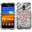 Insten® Diamante Phone Protector Case For Samsung Epic 4G Touch/Galaxy S II, Playful Leopard