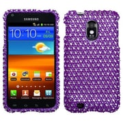 Insten® Diamante Phone Protector Case For Samsung Epic 4G Touch/Galaxy S II, Purple/White Dots