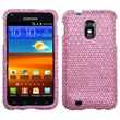 Insten® Diamante Phone Protector Case For Samsung Epic 4G Touch/Galaxy S II, Pink/White Dots