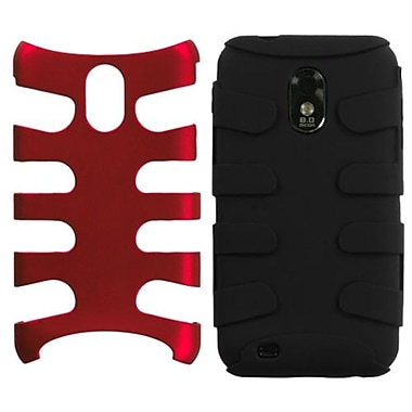 Insten® Fishbone Phone Protector Case For Samsung Epic 4G Touch/Galaxy S II, Red/Black