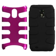 Insten® Metallic Fishbone Phone Protector Case For Samsung Epic 4G Touch/Galaxy S II, Pink/Black