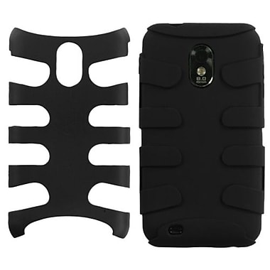 Insten® Rubberized Fishbone Phone Protector Case For Samsung Epic 4G Touch/Galaxy S II, Black