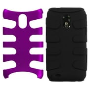 Insten® Fishbone Phone Protector Case For Samsung Epic 4G Touch/Galaxy S II, Purple/Black