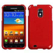 Insten® Phone Protector Case For Samsung Epic 4G Touch/Galaxy S II, Solid Flaming Red