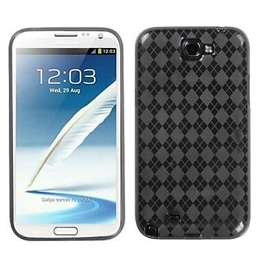 Insten® Argyle Candy Skin Case For Samsung Galaxy Note II (T889/I605), Smoke