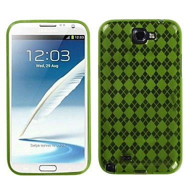 Insten® Argyle Candy Skin Case For Samsung Galaxy Note II (T889/I605), Green