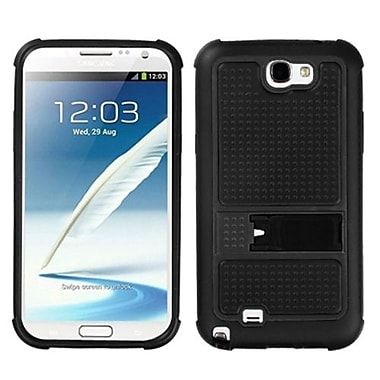 Insten® Gummy Armor Stand For Samsung Galaxy Note II (T889/I605), Black