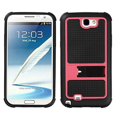 Insten® Gummy Armor Stand For Samsung Galaxy Note II (T889/I605), Hot-Pink