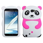 Insten® Case For Samsung Galaxy Note II (T889/I605), White Panda Hot-Pink Hands