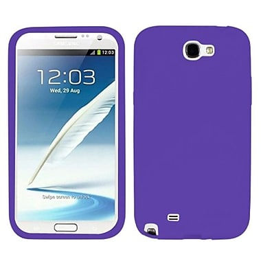 Insten® Solid Skin Case For Samsung Galaxy Note II (T889/I605), Electric Purple