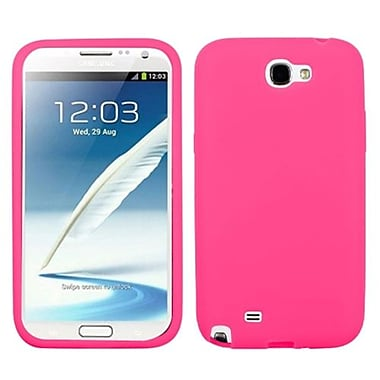 Insten® Solid Skin Case For Samsung Galaxy Note II (T889/I605), Electric Pink