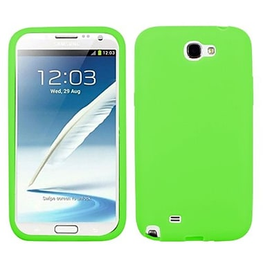 Insten® Solid Skin Case For Samsung Galaxy Note II (T889/I605), Electric Green