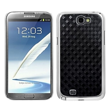 Insten® Back Protector Case For Samsung Galaxy Note II T889, Diagonal Plaid Silver Plating Plaid