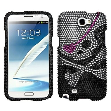 Insten® Diamante Protector Case For Samsung Galaxy Note II (T889/I605), Skull