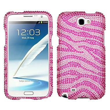 Insten® Diamante Protector Case For Samsung Galaxy Note II (T889/I605), Zebra Pink