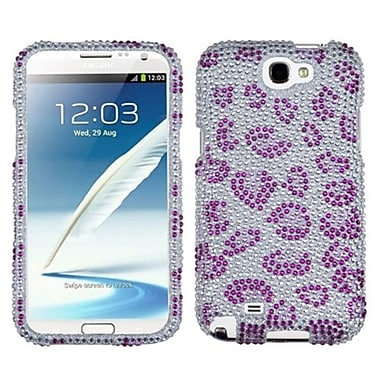 Insten® Skin Diamante Protector Case For Samsung Galaxy Note II (T889/I605), Purple Leopard