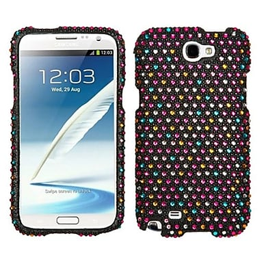 Insten® Diamante Phone Protector Case For Samsung Galaxy Note II (T889/I605), Sprinkle Dots