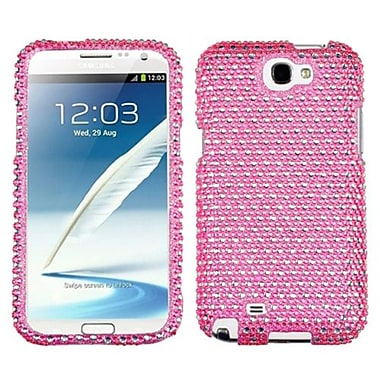 Insten® Diamante Phone Protector Case For Samsung Galaxy Note II (T889/I605), Pink/White Dots