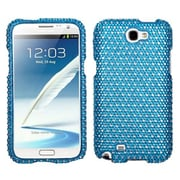 Insten® Diamante Phone Protector Case For Samsung Galaxy Note II (T889/I605), Blue/White Dots