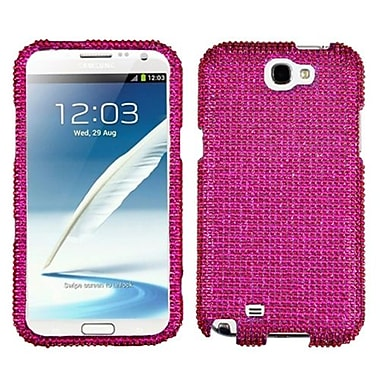 Insten® Diamante Protector Case For Samsung Galaxy Note II (T889/I605), Hot-Pink
