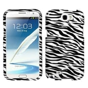 Insten® Skin Phone Protector Case For Samsung Galaxy Note II (T889/I605), Zebra