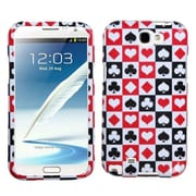 Insten® Phone Protector Case For Samsung Galaxy Note II (T889/I605), Card Suits