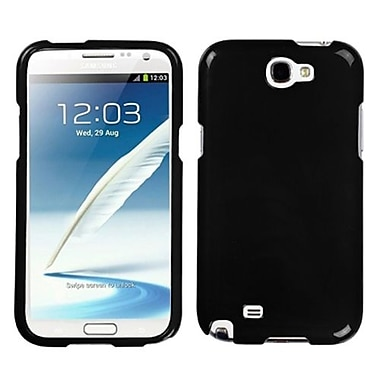 Insten® Solid Phone Protector Case For Samsung Galaxy Note II (T889/I605), Black