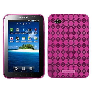 Insten® Argyle Candy Skin Case For Samsung P1000 Galaxy Tab, Hot-Pink