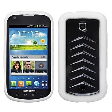 Insten® Gummy Case For Samsung I200 (Stellar), Solid Black/Solid White