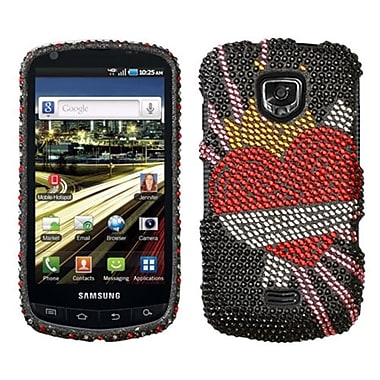 Insten® Diamante Protector Case For Samsung I510 (Droid Charge), Heartbreaker