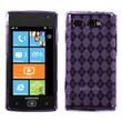 Insten® Argyle Candy Skin Case For Samsung i677 (Focus Flash), Purple