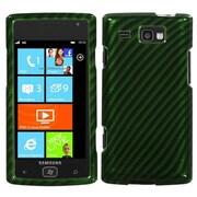Insten® Phone Protector Case For Samsung i677 (Focus Flash), Racing Fiber/Green Silver