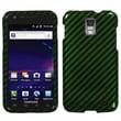 Insten® Phone Protector Case For Samsung i727 (Galaxy S II Skyrocket), Racing Fiber/Green Silver