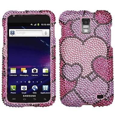 Insten® Diamante Protector Case For Samsung i727 (Galaxy S II Skyrocket), Cloudy Hearts