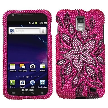 Insten® Diamante Protector Case For Samsung i727 (Galaxy S II Skyrocket), Tasteful Flowers