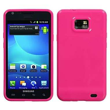 Insten® Argyle Candy Skin Case For Samsung I777 Galaxy S2, Solid Hot-Pink