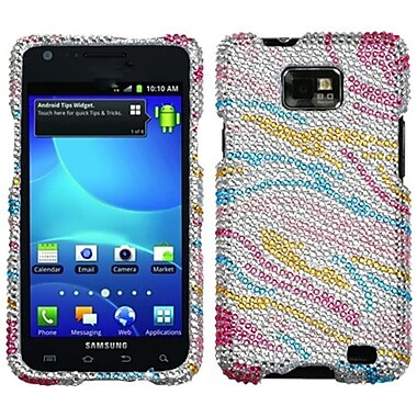 Insten® Diamante Phone Protector Case For Samsung I777 Galaxy S2, Colorful Zebra