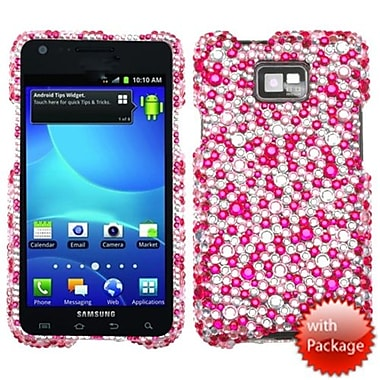 Insten® Diamante Protector Case For Samsung I777 Galaxy S2, Pink/Silver Stardust Elite