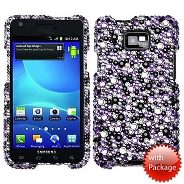 Insten® Diamante Protector Case For Samsung I777 Galaxy S2, Purple/Silver Stardust Elite