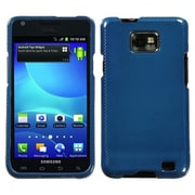 Insten® Phone Protector Case For Samsung I777 Galaxy S2, Dark Blue Carbon Fiber