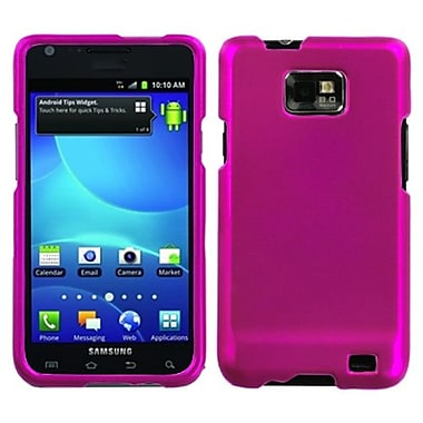 Insten® Phone Protector Case For Samsung I777 Galaxy S2, Titanium Solid Hot-Pink