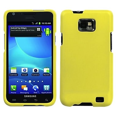Insten® Rubberized Phone Protector Case For Samsung I777 Galaxy S2, Yellow