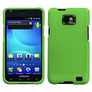Insten® Rubberized Phone Protector Case For Samsung I777 Galaxy S2, Green