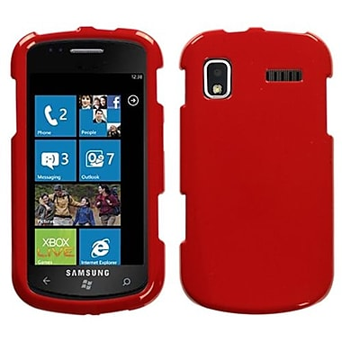 Insten® Phone Protector Case For Samsung i917 (Focus), Solid Flaming Red